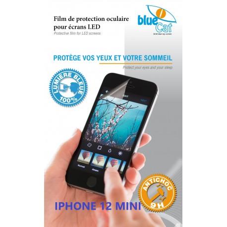 Protection verre trempé anti lumière bleue 100% Bluecat screen Premium pour iPhone 12 mini